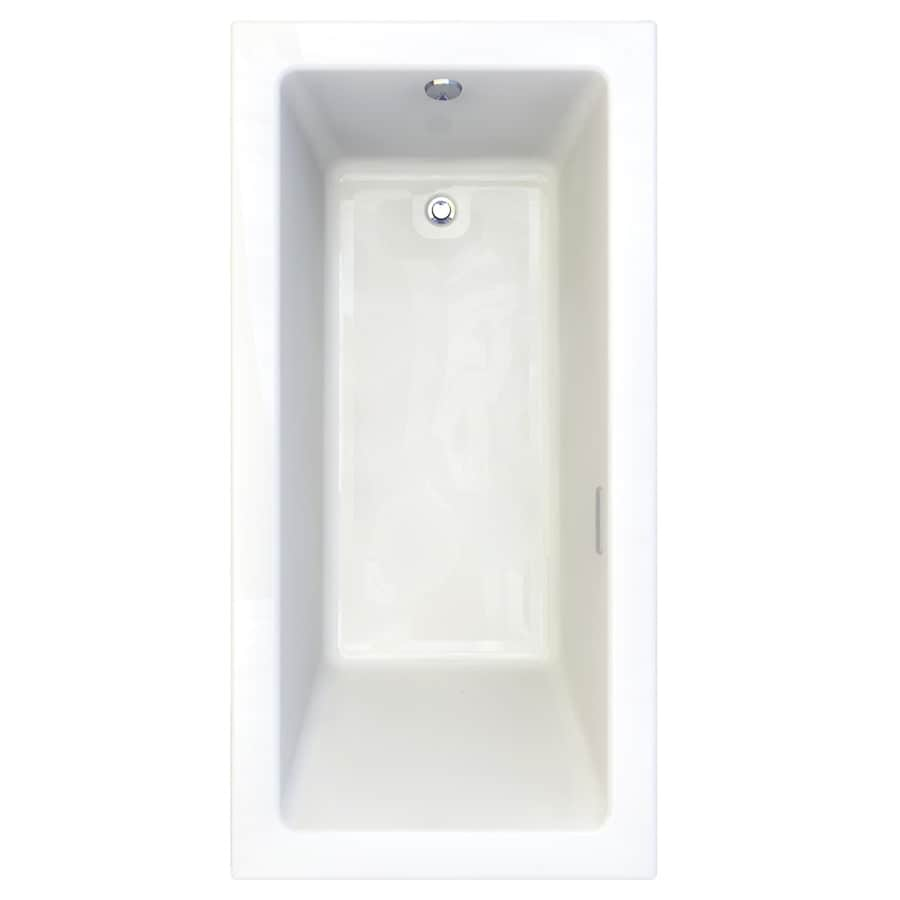 American Standard Studio 71.75-in L x 35.75-in W x 22.5-in H Arctic White Acrylic Rectangular Drop-in Air Bath