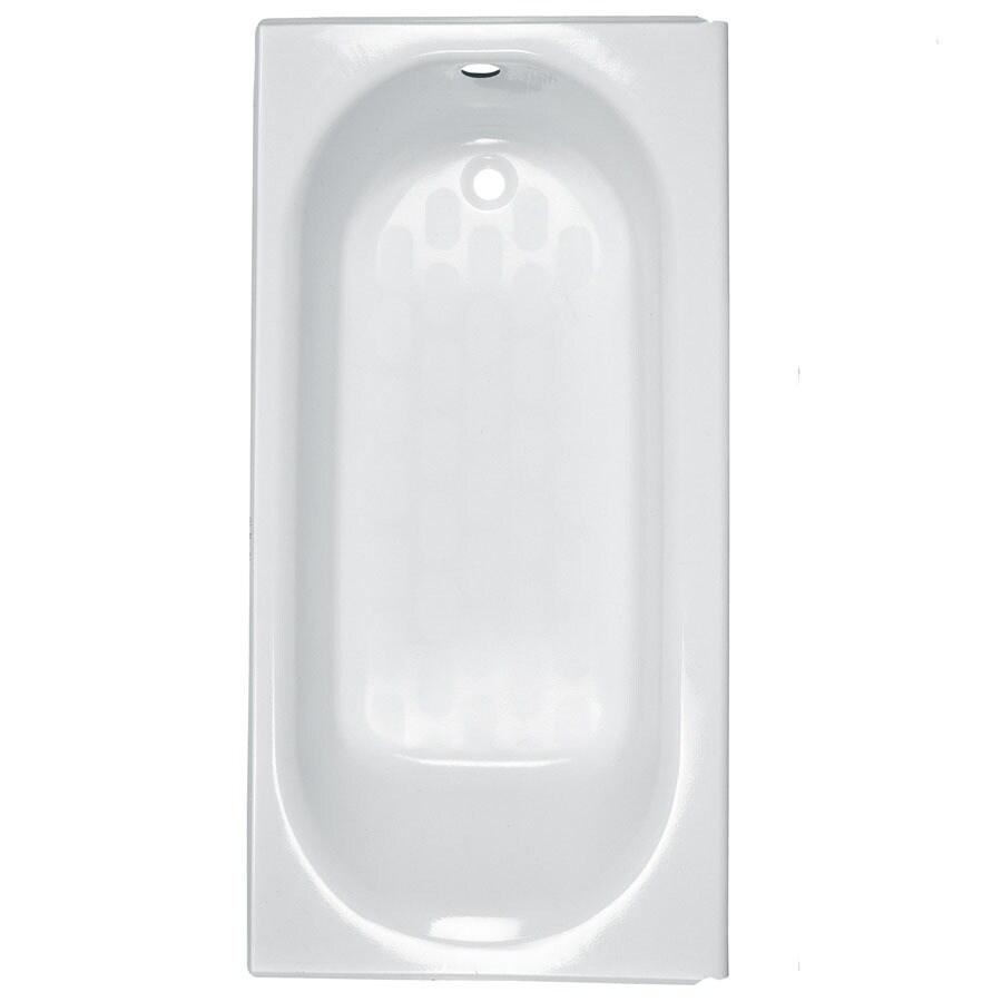 Shop american standard princeton reinforced porcelain for Porcelain on steel bathtub review