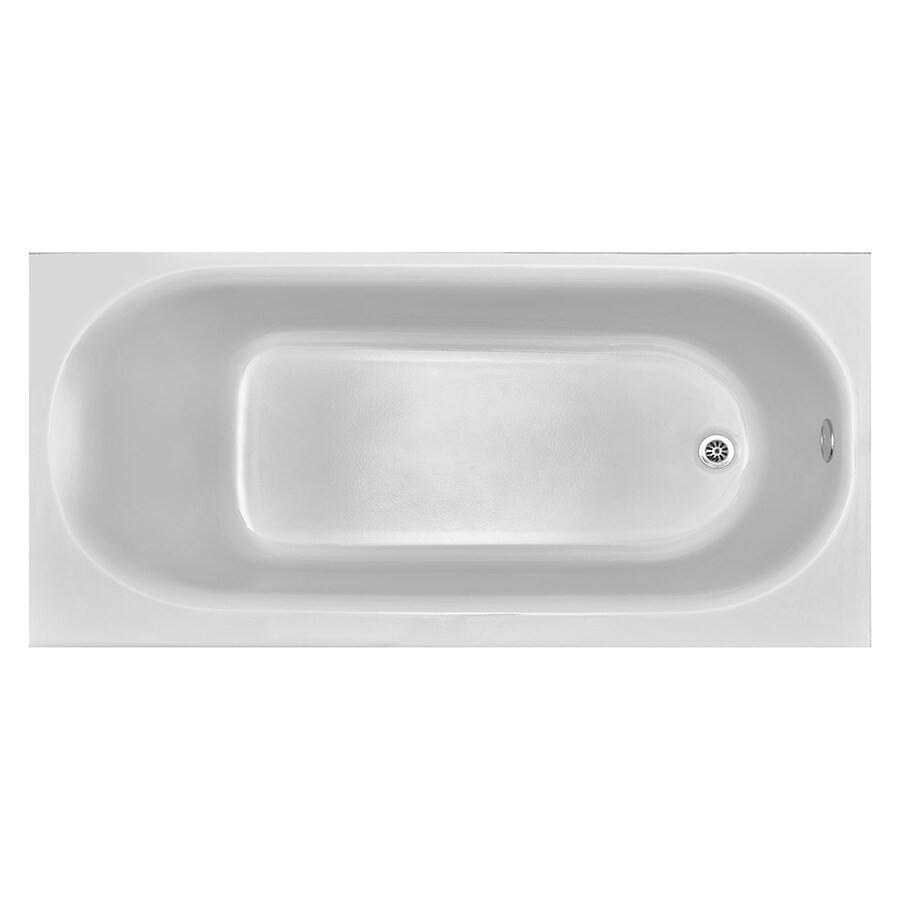 American Standard Princeton Reinforced Porcelain Enamel/Metal Oval In Rectangle Skirted Bathtub with Right-Hand Drain (Common: 30-in x 60-in; Actual: 14-in x 30-in x 60-in)