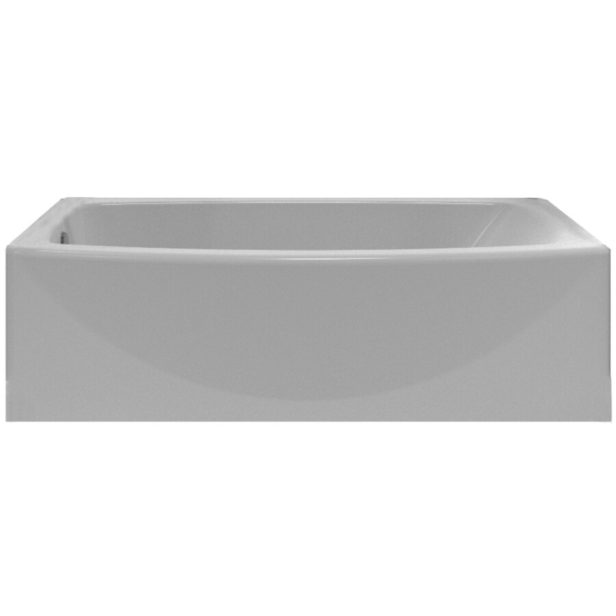 American Standard Saver Acrylic Oval In Rectangle Skirted Bathtub with Left-Hand Drain (Common: 30-in x 60-in; Actual: 17-in x 33.75-in x 60-in)