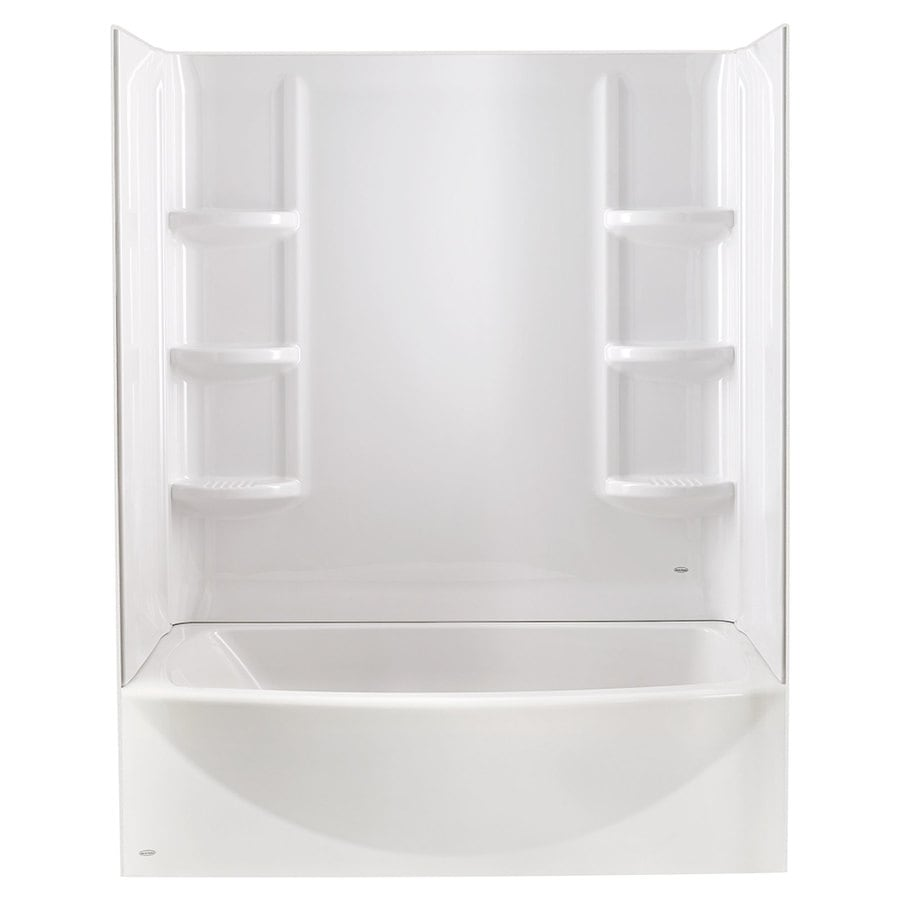 American Standard Saver High-Impact Polystyrene Bathtub Wall Surround (Common: 30-in x 60-in; Actual: 58-in x 30-in x 60-in)
