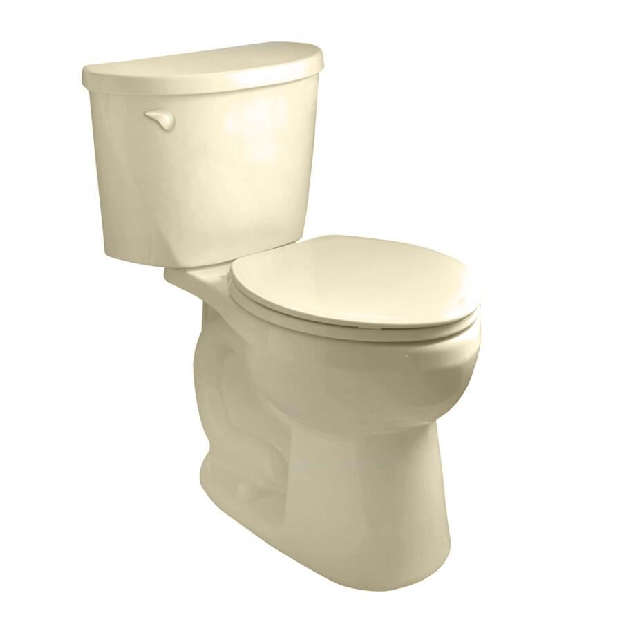American Standard Mainstream Bone 1.28 GPF High Efficiency WaterSense Round 2-Piece Toilet