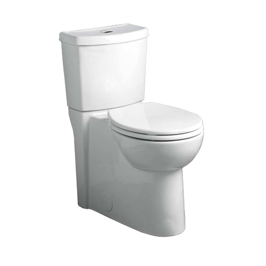 American Standard Studio White 1.1-GPF 12 Rough-In WaterSense Elongated Dual-Flush 2-Piece Chair Height Toilet