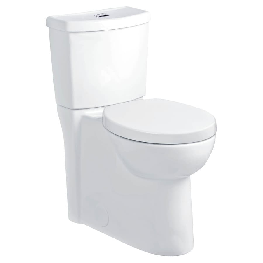 American Standard Studio White 1.1-GPF 12 Rough-In WaterSense Round Dual-Flush 2-Piece Chair Height Toilet