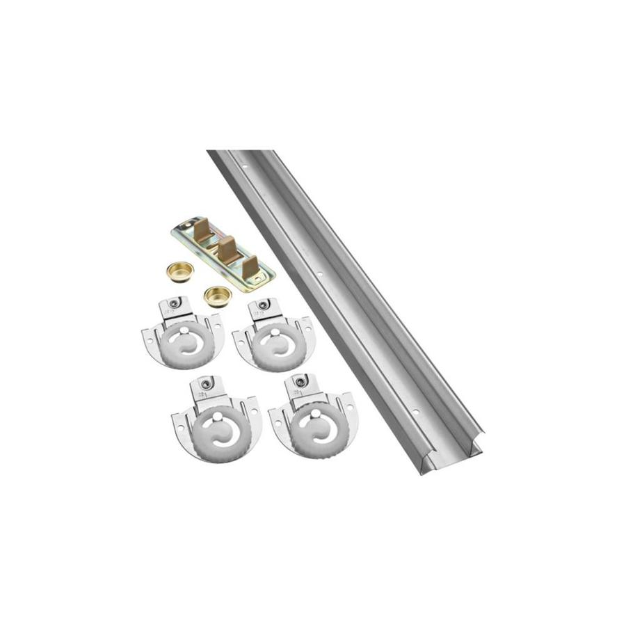 shop stanley national hardware 48 in bi pass sliding closet door track kit at lowes