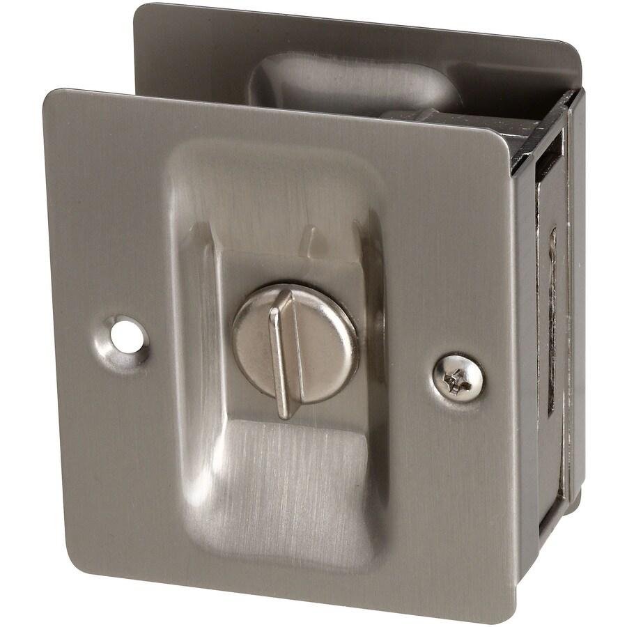 Stanley-National Hardware 2.75-in Satin Nickel Privacy Pocket Door Pull