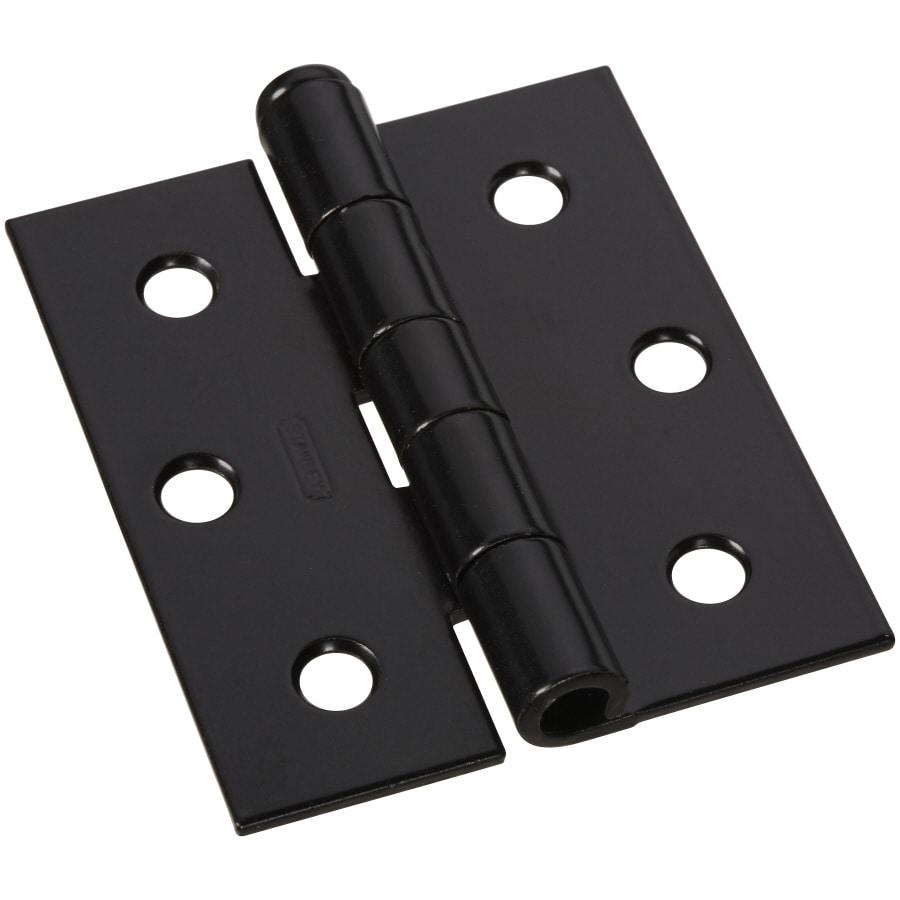 Shop Stanley National Hardware 3 In H Black Interior Exterior Mortise Door Hinge At