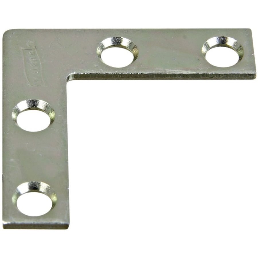 Stanley-National Hardware 4-Pack 0.375-in x 1.5-in Zinc-Plated Flat Braces