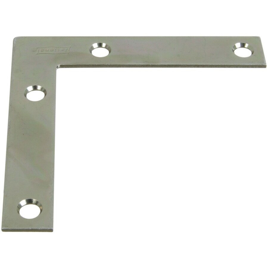 Stanley-National Hardware 4-Pack 0.75-in x 3.5-in Zinc-Plated Flat Braces