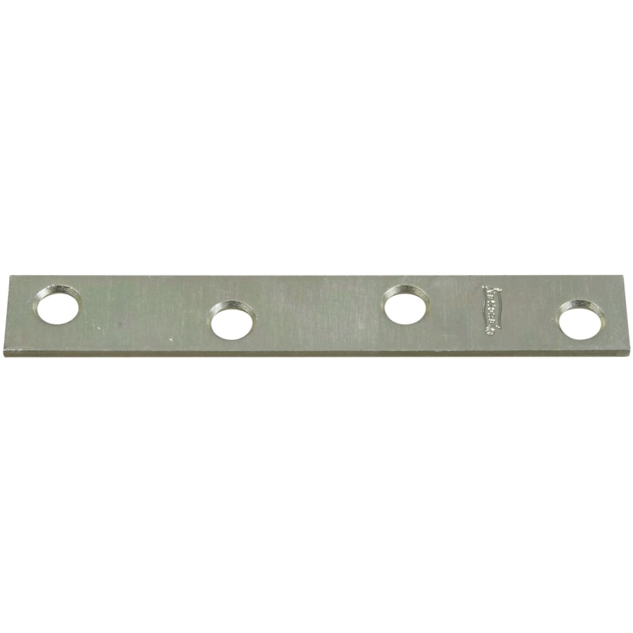 Stanley-National Hardware 4-Pack 0.625-in x 4-in Zinc-Plated Flat Braces
