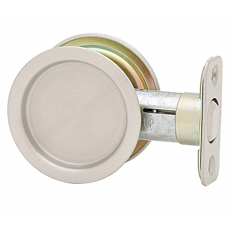 Stanley-National Hardware 2.125-in Satin Nickel Passage Pocket Door Pull
