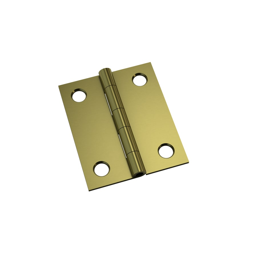 Gatehouse 2-Pack 1.5-in H Polished Brass Interior Mortise Door Hinge