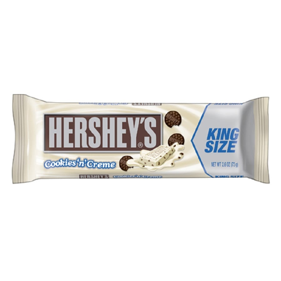 Hershey's 2.6-oz King Size Cookies 'N' Creme Candy Bar