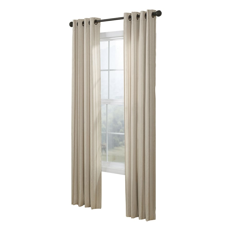 allen + roth City Park 95-in Cream Polyester Grommet Light Filtering Single Curtain Panel