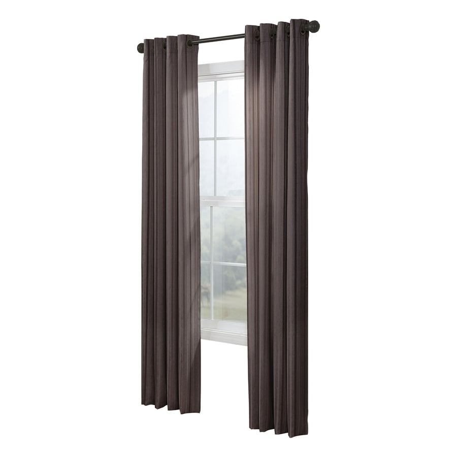 allen + roth City Park 95-in Chocolate Polyester Grommet Light Filtering Single Curtain Panel