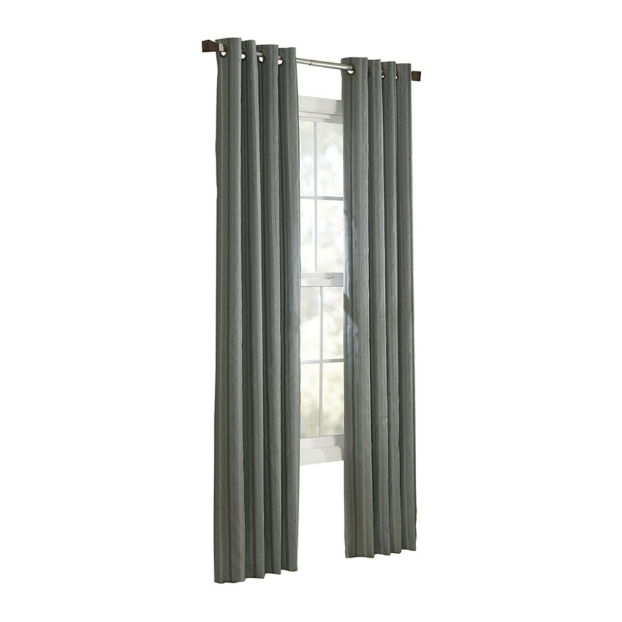 allen + roth City Park 95-in Spa Polyester Grommet Light Filtering Single Curtain Panel