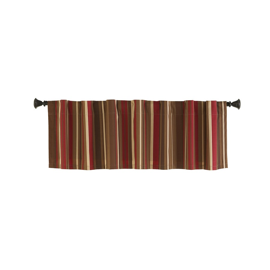 shop style selections bernard 15 in red multicolor polyester back tab valance at. Black Bedroom Furniture Sets. Home Design Ideas
