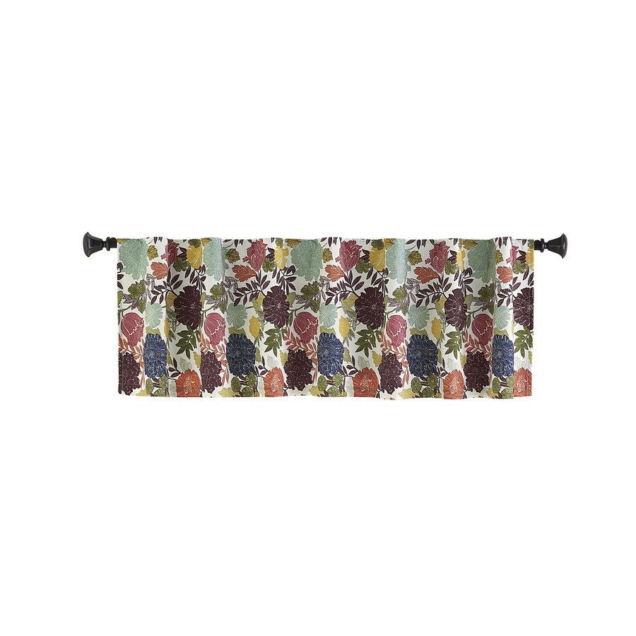 Style Selections Bernard 15-in Multicolor Polyester Back Tab Valance