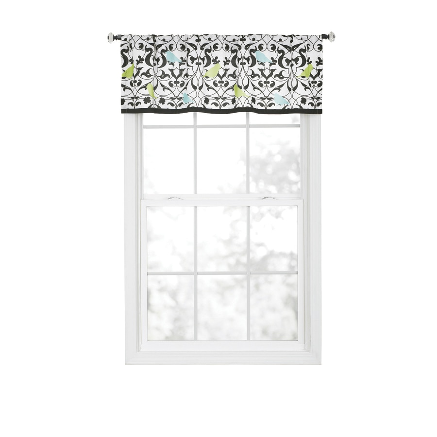 Style Selections Sheply 16-in Multicolor Polyester Rod Pocket Valance
