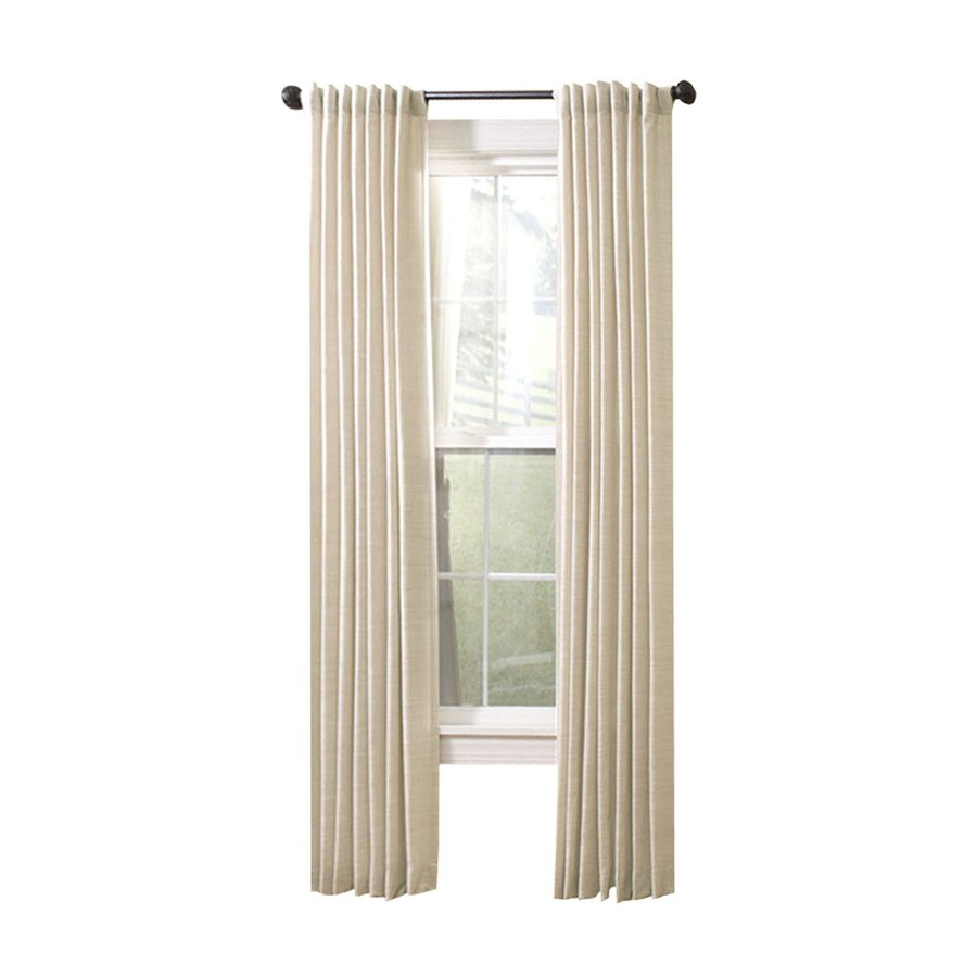 allen + roth Evington 95-in L Solid Linen Back Tab Curtain Panel