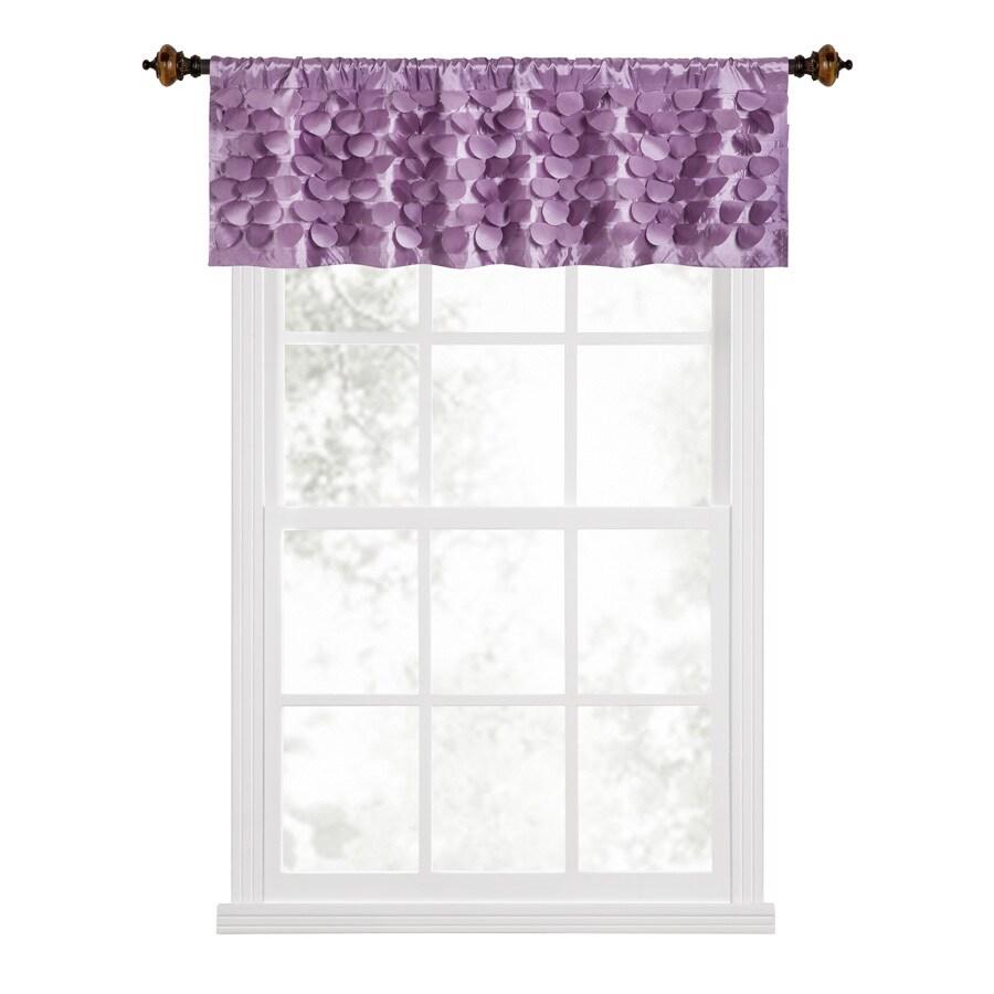 Style Selections Lavena 17-in Purple Polyester Rod Pocket Valance