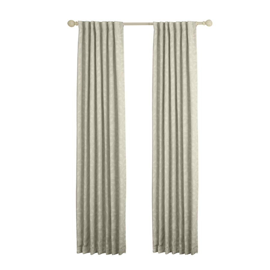 allen + roth Carronbridge 63-in Linen Polyester Back Tab Room Darkening Single Curtain Panel