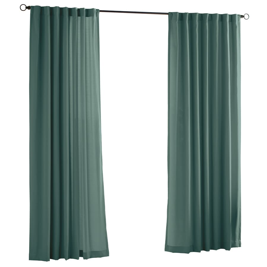 Solaris Canvas Solid 96-in Mineral Polyester Back Tab Light Filtering Single Curtain Panel