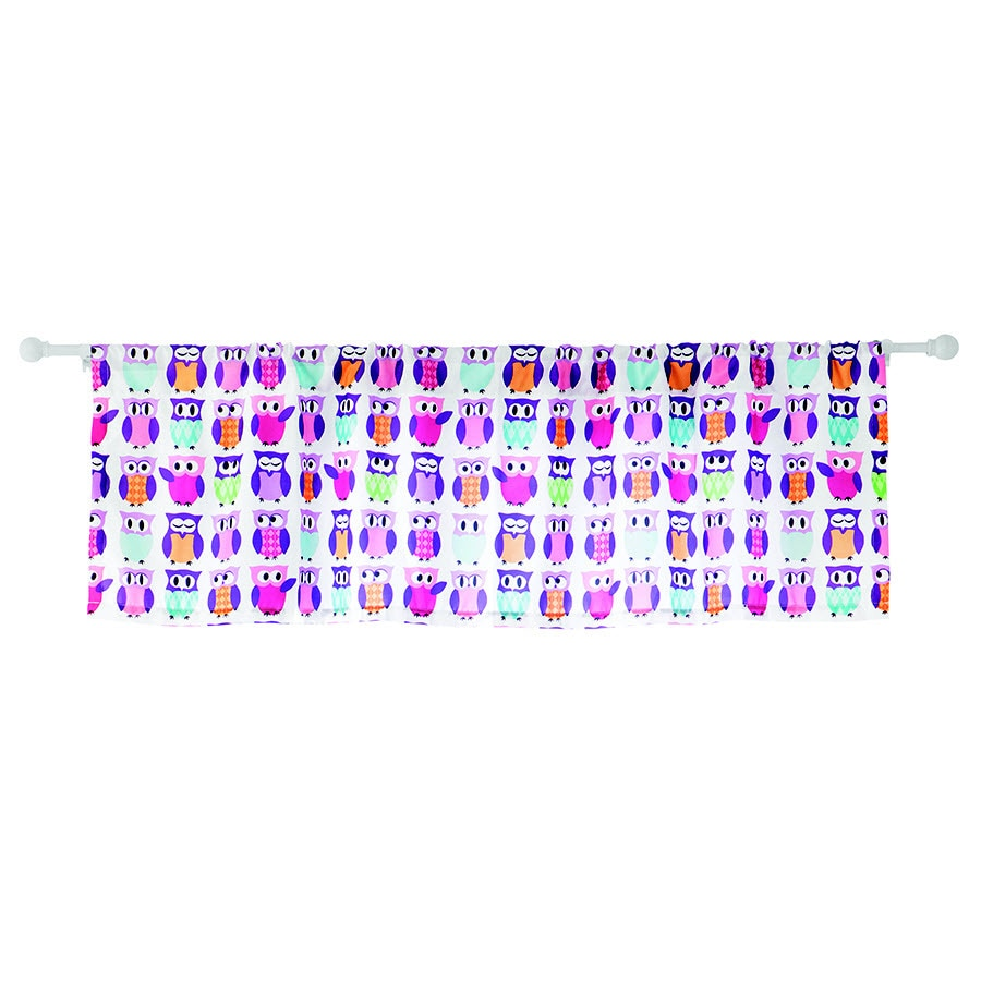 Style Selections Trea 15.5-in Multicolor Polyester Rod Pocket Valance