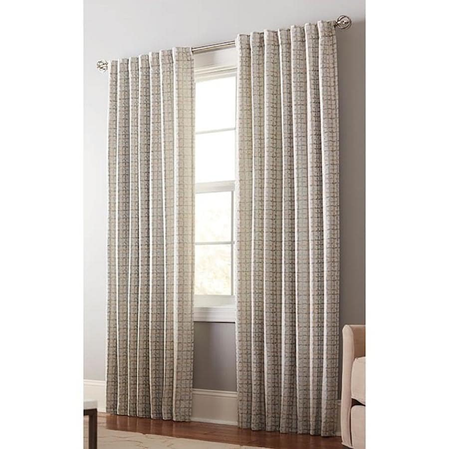 allen + roth Nelliston 95-in Mineral Polyester Back Tab Light Filtering Standard Lined Single Curtain Panel
