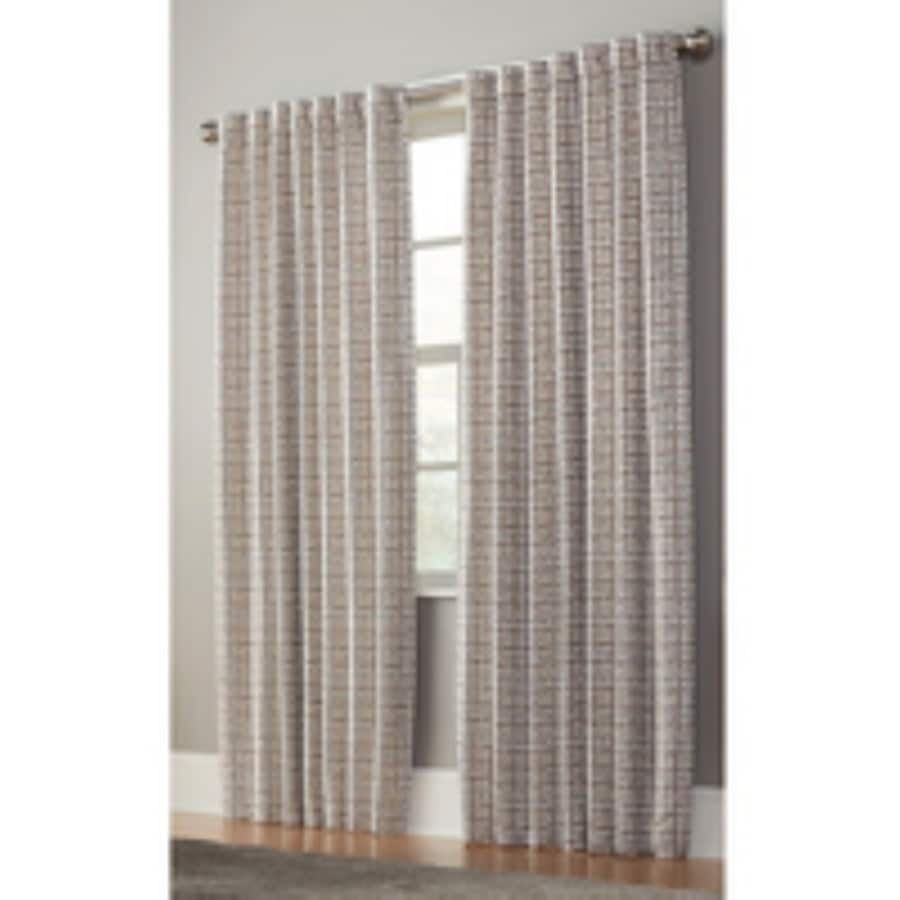 allen + roth Nelliston 84-in Taupe Polyester Back Tab Light Filtering Standard Lined Single Curtain Panel