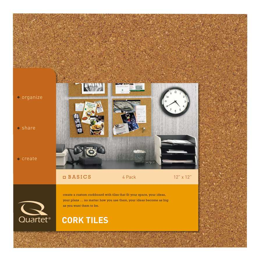 """Style Selections 4-Pack 12""""x12"""" Cork Tile"""