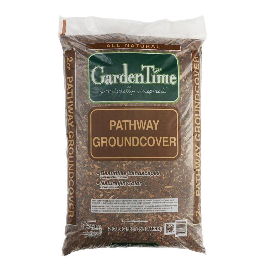 Garden Time 2-cu ft Dark Brown Bark Pine Bark Mulch