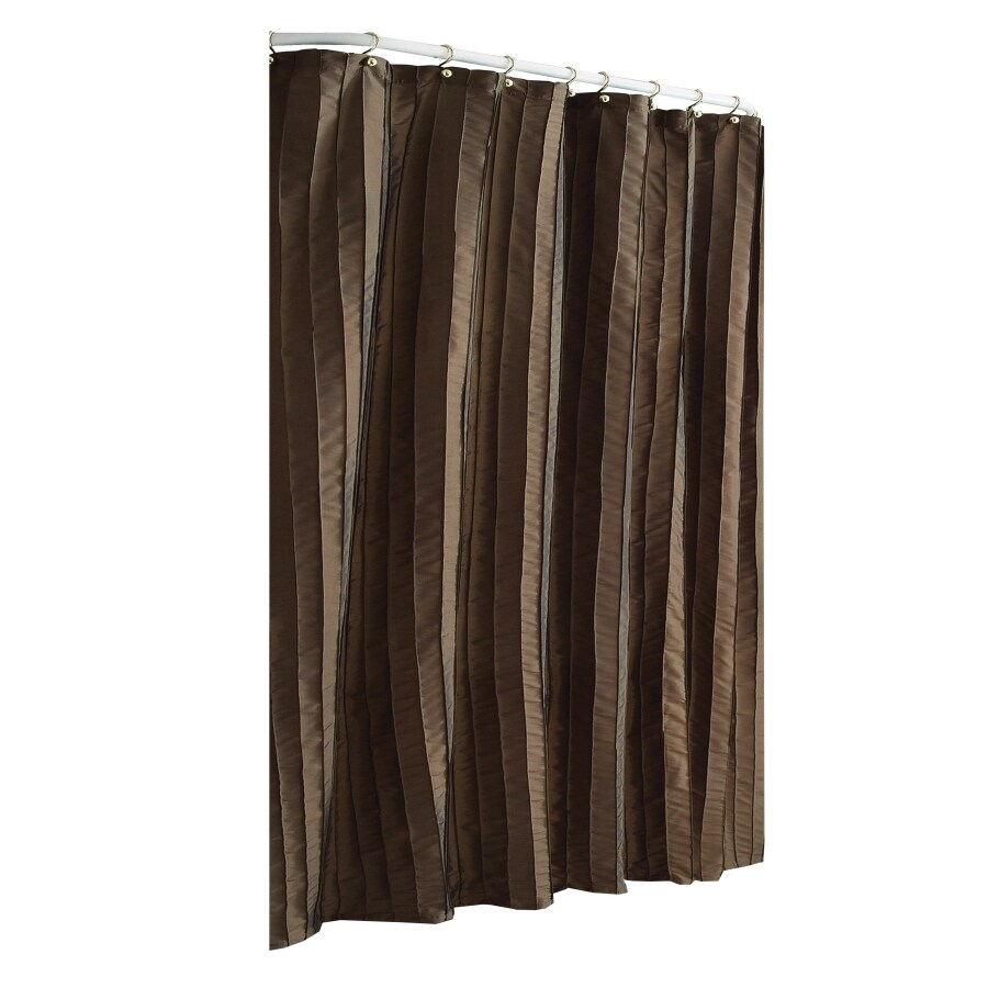 Shop Allen Roth Polyester Espresso Shower Curtain At
