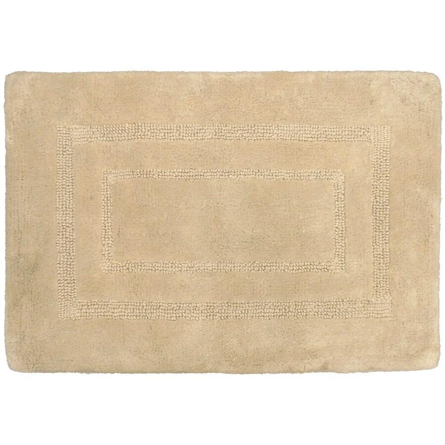 allen + roth 17-in x 24-in Beige Cotton Bath Mat