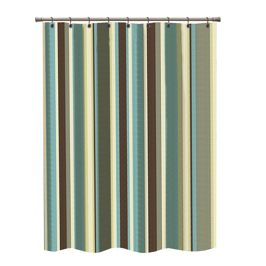Polyester Multi Striped Shower Curtain