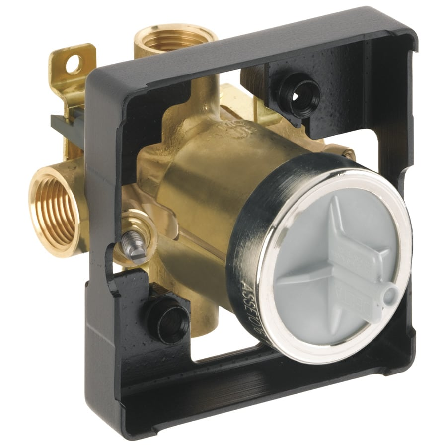 Delta 4-in x 4-in Polished Brass Box Flange