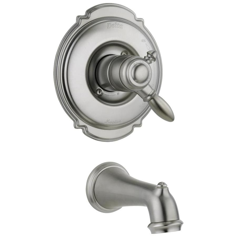 Delta Victorian Stainless 1-Handle Fixed Wall Mount Bathtub Faucet
