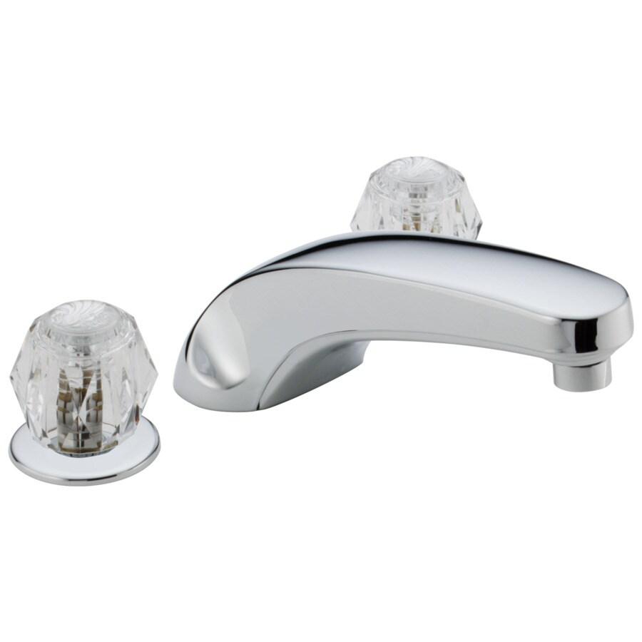Delta Classic Chrome 2-Handle Adjustable Deck Mount Bathtub Faucet