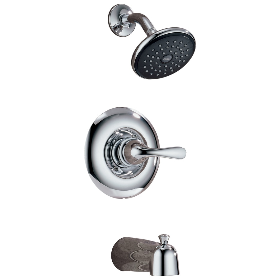Delta Classic Chrome 1-Handle WaterSense Bathtub and Shower Faucet with Single Function Showerhead