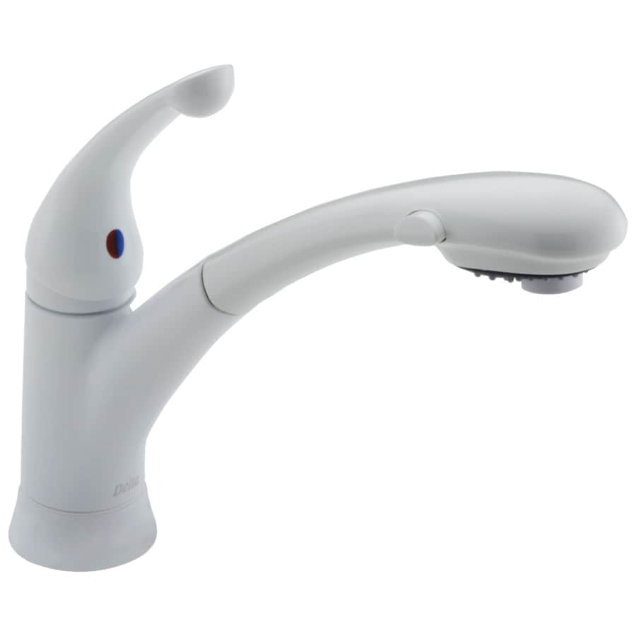 Delta Signature White 1-Handle Pull-Out Kitchen Faucet