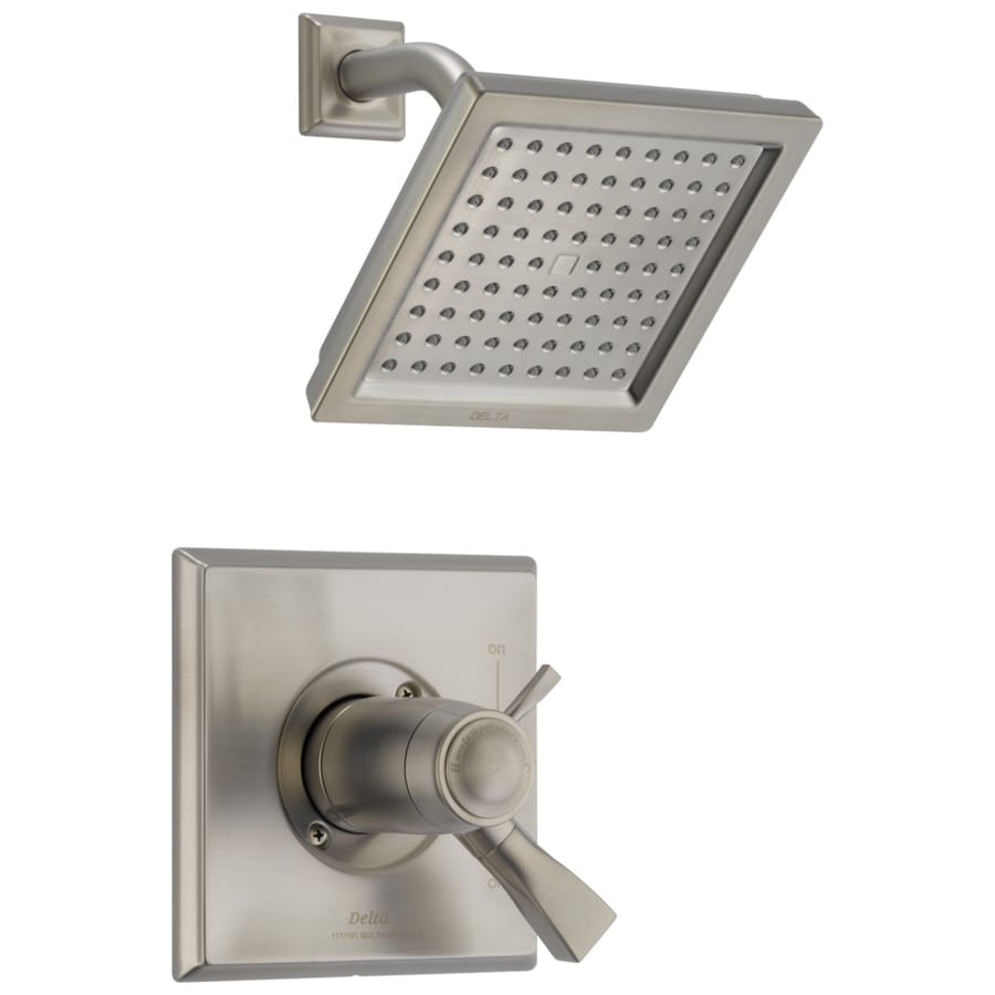 Delta Dryden Thermostatic Stainless 1-Handle Shower Faucet Trim Kit with Rain Showerhead