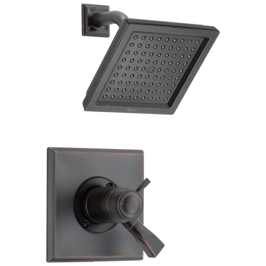 Delta Dryden Thermostatic Venetian Bronze 1-Handle Shower Faucet Trim Kit with Rain Showerhead
