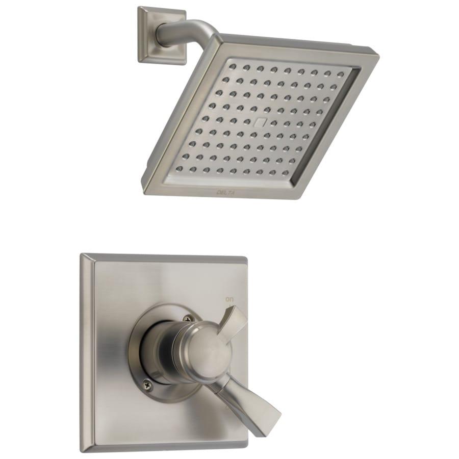 Delta Dryden Stainless 1-Handle Shower Faucet Trim Kit with Rain Showerhead