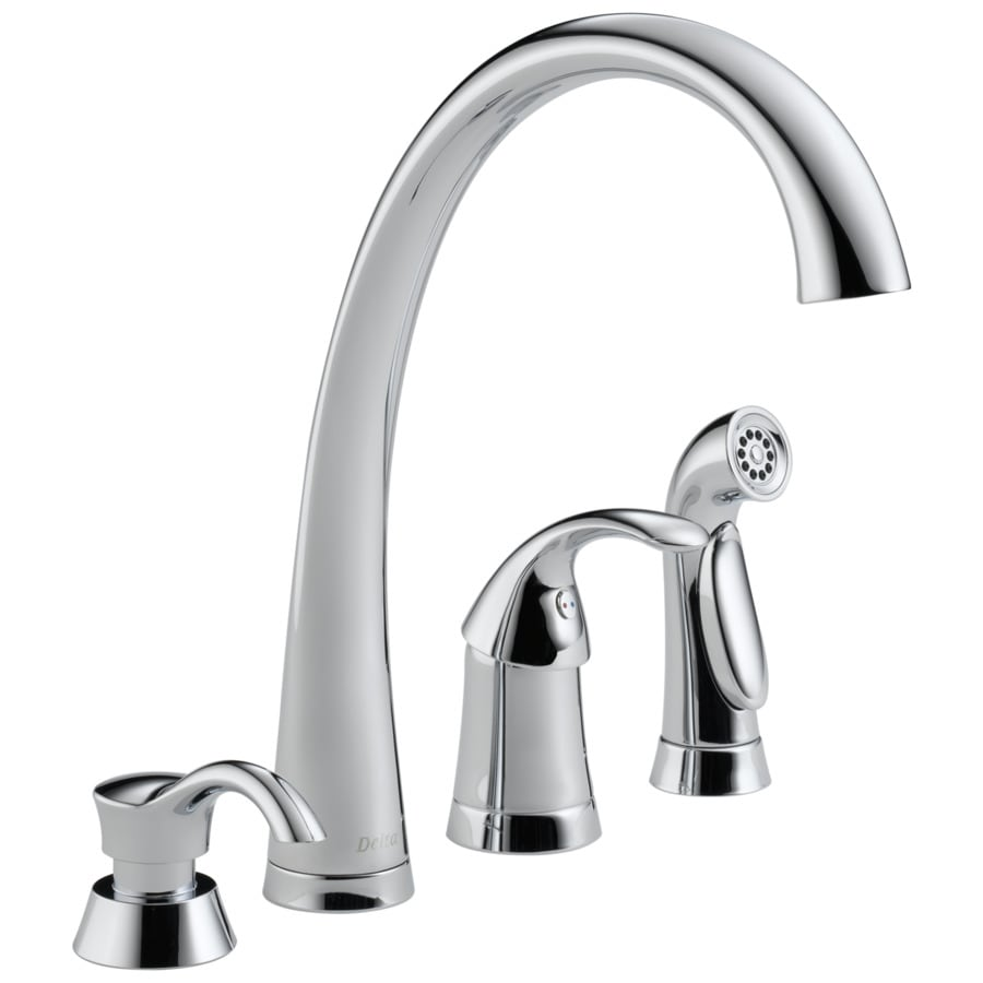 Delta Pilar Chrome 1-Handle High-Arc Kitchen Faucet with Side Spray