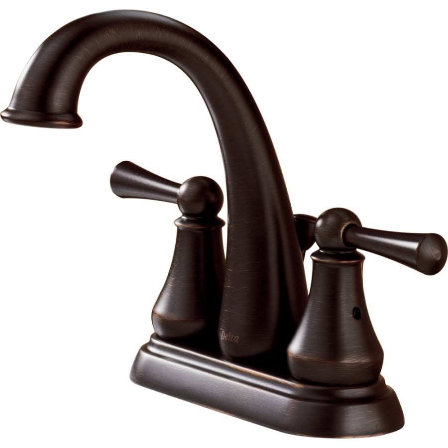 Delta Traditional Venetian Bronze 2-Handle 4-in Centerset WaterSense Bathroom Sink Faucet (Drain Included)