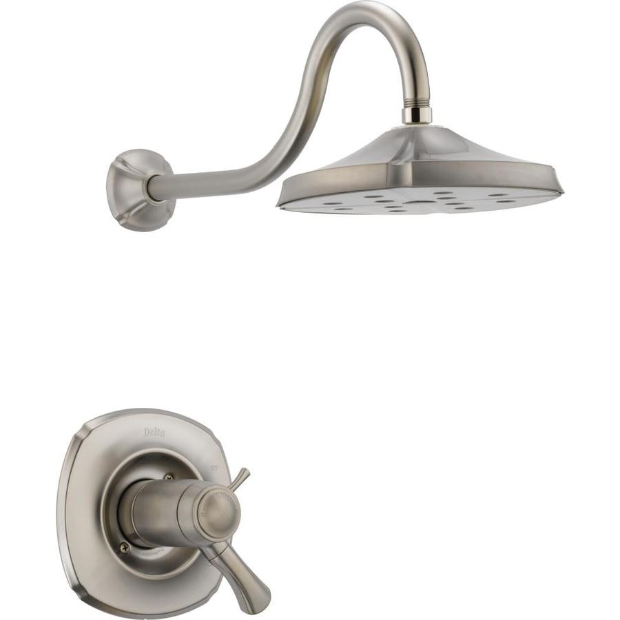 Delta Addison Thermostatic Stainless 1-Handle Shower Faucet Trim Kit with Rain Showerhead