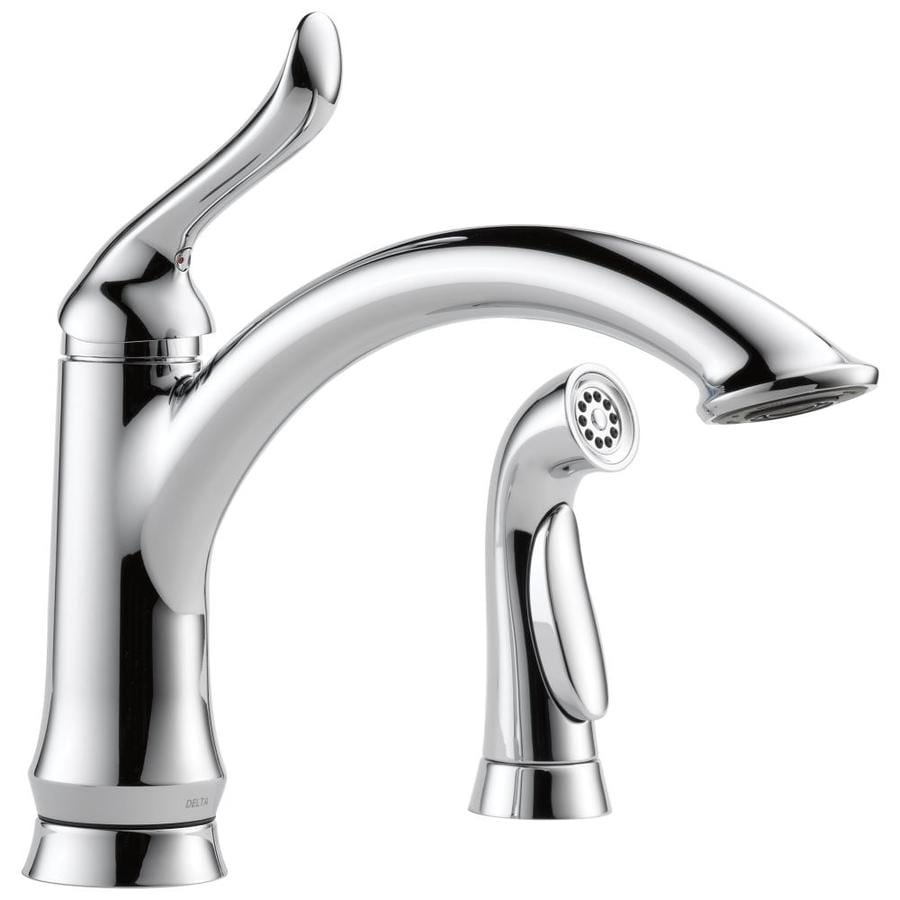 Delta Linden Chrome 1-Handle High-Arc Kitchen Faucet with Side Spray