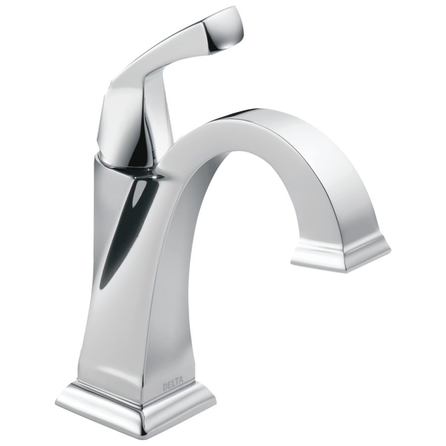 Delta Dryden Chrome 1-Handle 4-in Centerset WaterSense Bathroom Faucet (Drain Included)