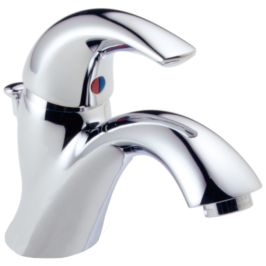 Delta Classic Chrome 1-Handle 4-in Centerset WaterSense Bathroom Faucet (Drain Included)