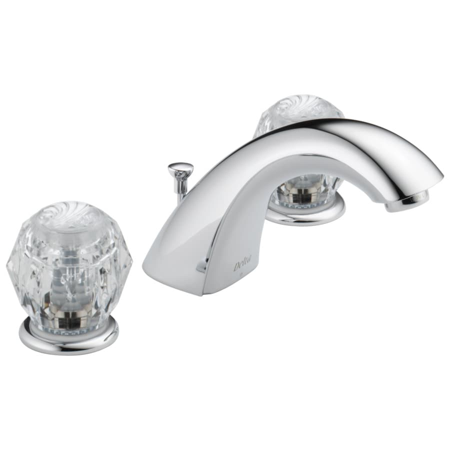 Shop Delta Classic Chrome 2 Handle Widespread Watersense Bathroom Faucet Drain Included At